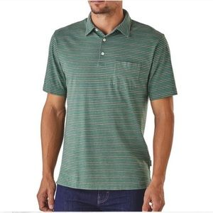 Patagonia . Squeaky Clean Striped Polo Shirt . L